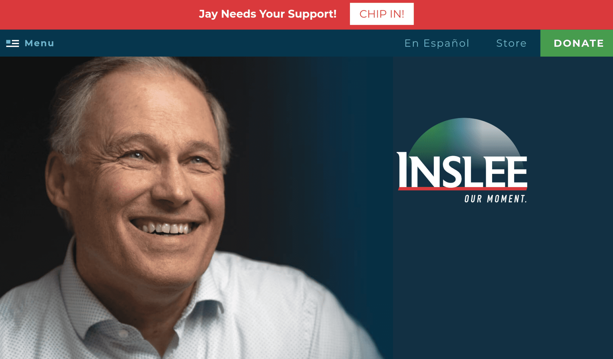 Jay Inslee 2020 campaign website