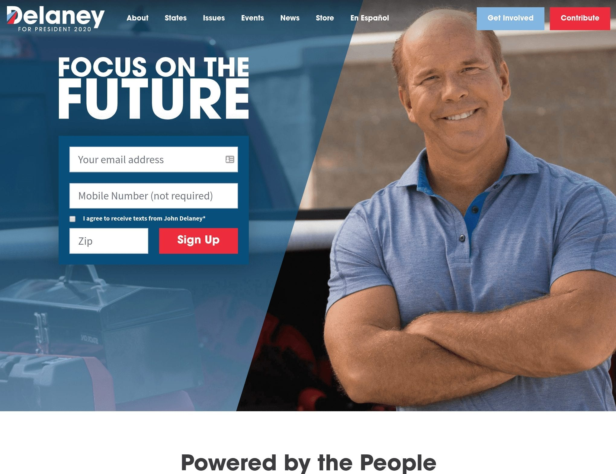 John Delaney 2020 campaign website