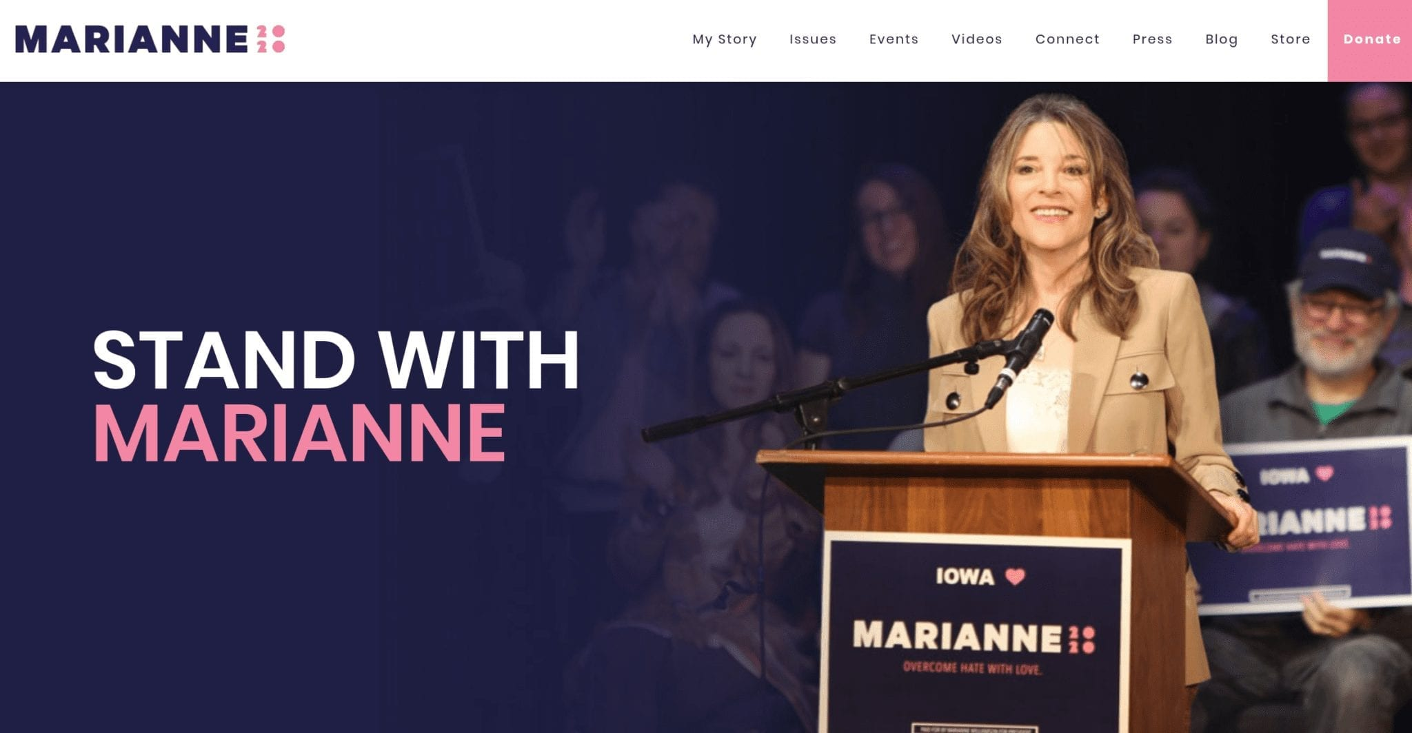 Marianne Williamson 2020 campaign website