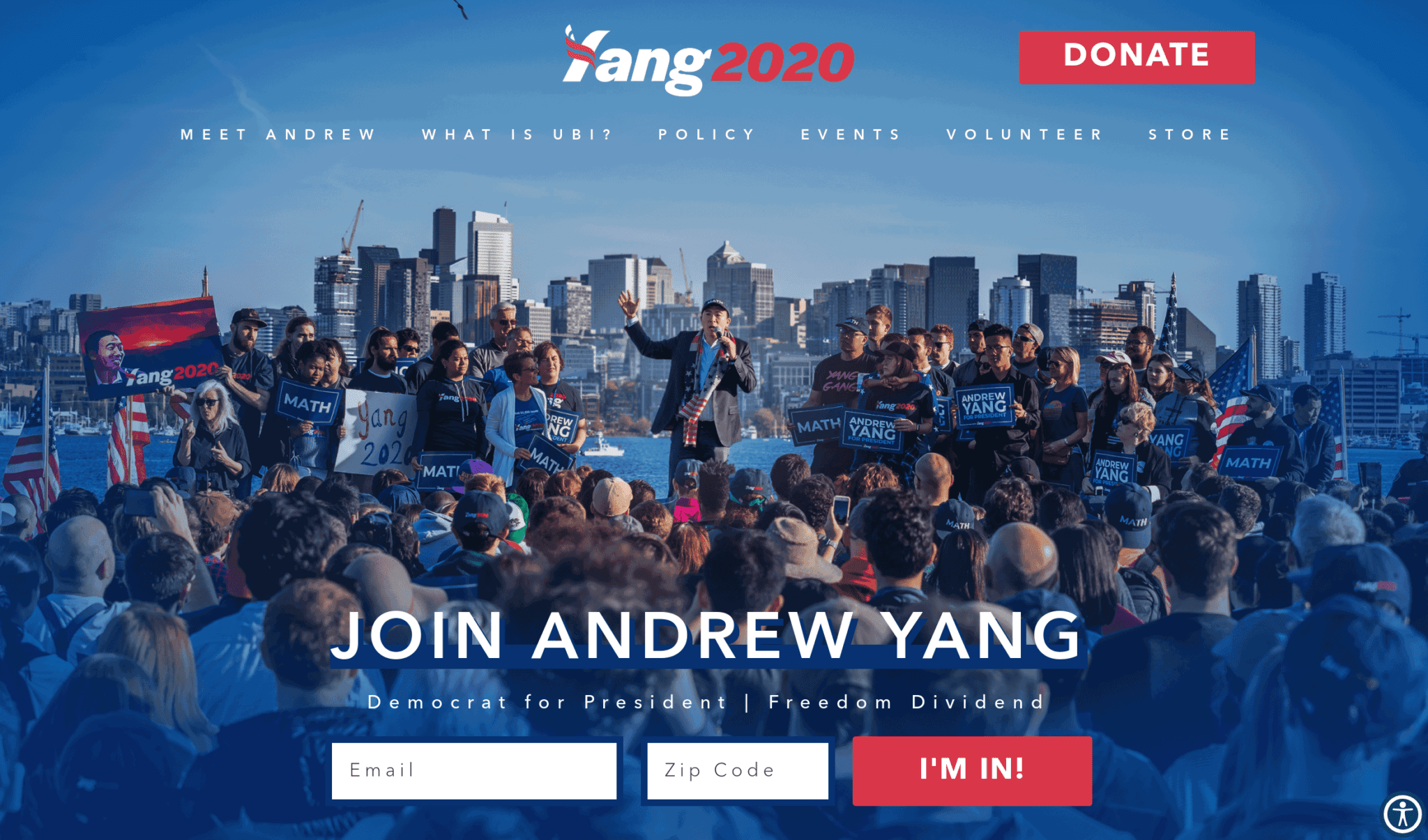 Andrew Yang 2020 campaign website